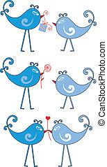 vogels, verliefd