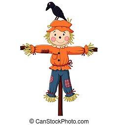 vogelscheuche, karikatur