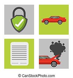 vogn forsikring, firma, ikon