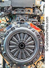vogn motor, afdelingen, og, clutch, skive