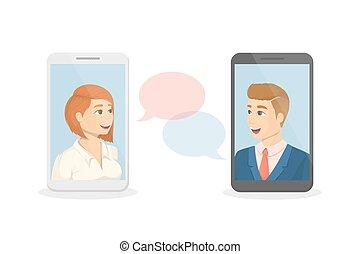 Voice call concept.