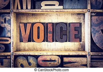 Voice Concept Letterpress Type