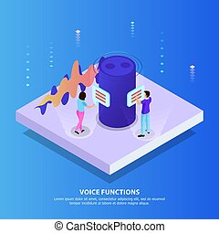 Voice Functions Isometric Background