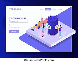 Voice Functions Isometric Composition