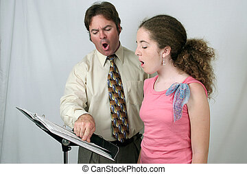 Voice Lesson Ohhhh - A voice teacher demonstrating to a...