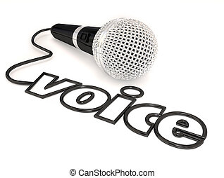 Voice Microphone Cord Word Singing Talent Show - Voice word...