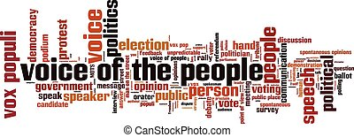 Voice of the people word cloud concept. Vector illustration