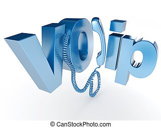 Voice Over IP in blue