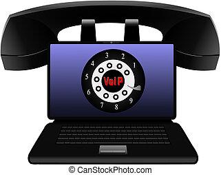Voice Over IP - VoIP Vector