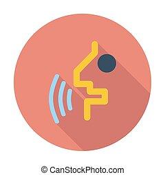 Voice recognition button.
