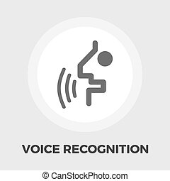 Voice recognition icon flat