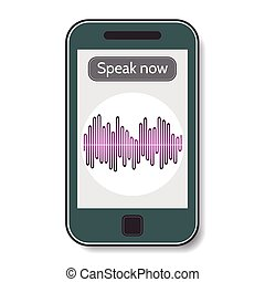 Mobile phone with program of voice recognition