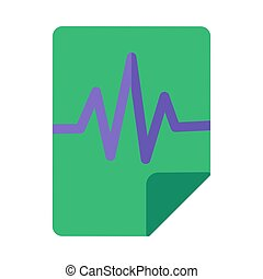 Voice record flat vector icon