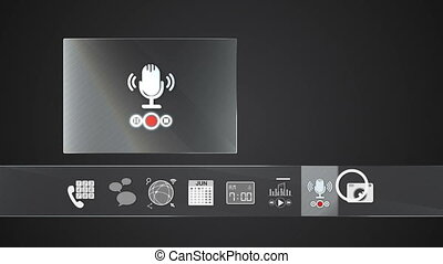Voice recorder icon for mobile