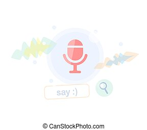 Voice search and recognition. Browser bar concept.