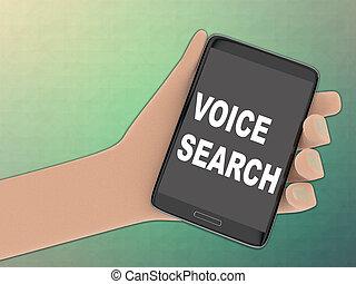 VOICE SEARCH concept