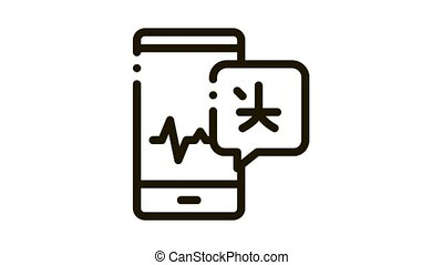 Voice Wave On Phone Screen Icon Animation