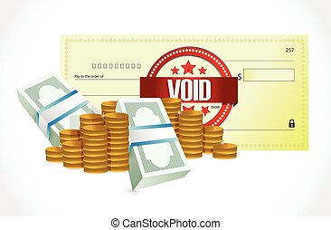 void bank check and money