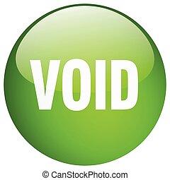 void green round gel isolated push button