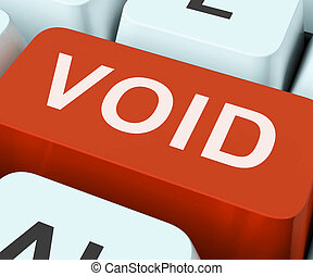Void Key Shows Invalid Or Invalidated Contract - Void Key...