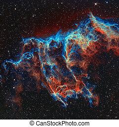 voile, constellation, nébuleuse, cygnus.
