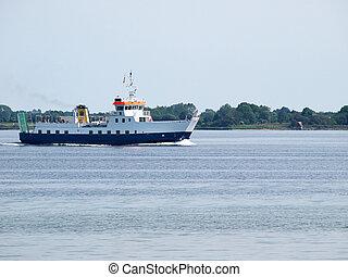 voile, eau, croisière bateau, ferry-boat, calme