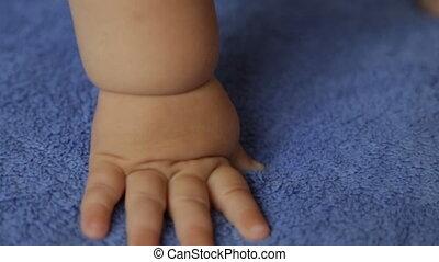 voile, main, enfant