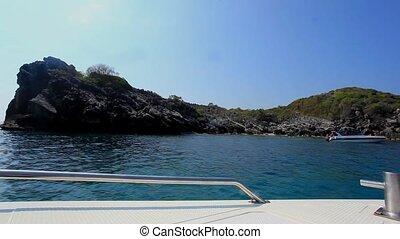 voile, masque, snorkeling, approche, bateaux, bateau, ...