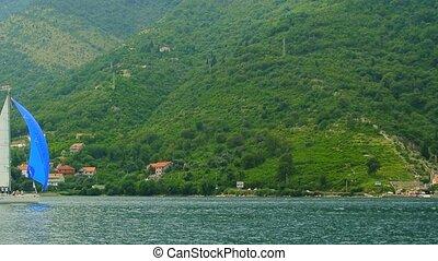 voile, montenegro., yachts, baie, boka, régate