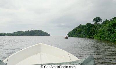 voile, océan, exotique, petit, 4k, vidéo, rivière, canot ...