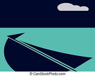voilier, mât, nautisme, reflet