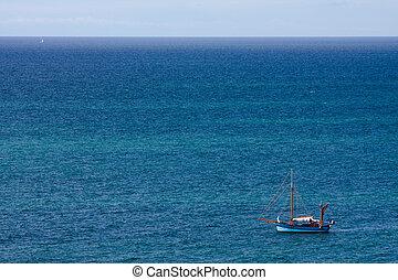 voilier, mer