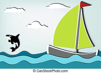 voilier, orque