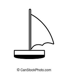 voilier, récréation, ligne, voyage