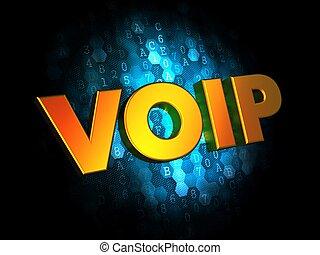 voip, 概念, 上に, デジタル, バックグラウンド。