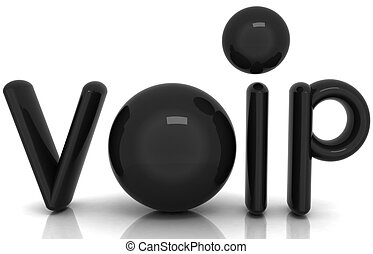 VoIP 3d word of carbon material