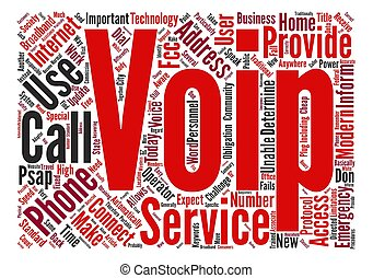 VoIP And Calls text background word cloud concept