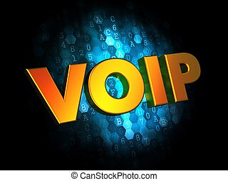 VOIP Concept on Digital Background.