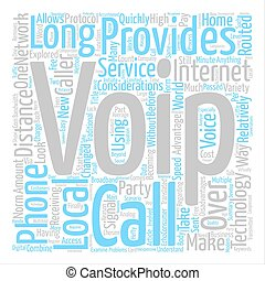 VOIP Considerations text background word cloud concept