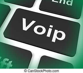 Voip Key Meaning Voice Over Internet Protocol Or Broadband Telephony