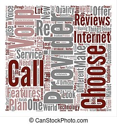 voip reviews text background word cloud concept