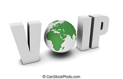 Voip Voice Over IP Internet Communication in 3d