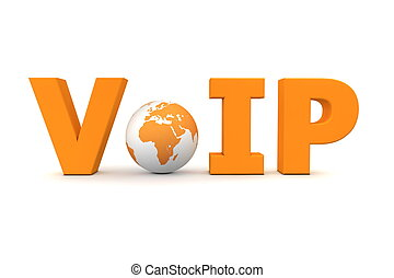VoIP World Orange - Small Globe