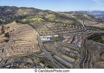 voisinage, angeles, los, construction, californie, nouveau