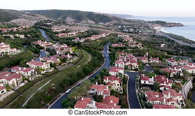 voisinage, côte, communauté, newport, avant, cristal,...