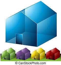 voisinage résidentiel, icônes