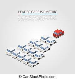 voiture, éditorial, object., isométrique