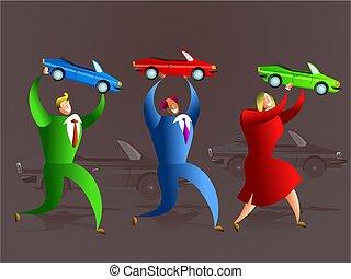 voiture, équipe