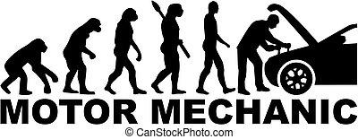 voiture, évolution, moteur, mécanicien