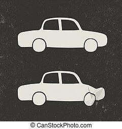 voiture, accident.